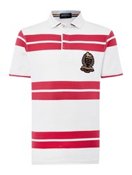 Howick Lincoln Stripe Short Sleeve Rugby Cerise