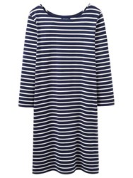 Joules Riviera 3 4 Sleeve Jersey T Shirt Dress French Navy Stripe