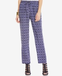 Vince Camuto Printed Drawstring Waist Pants Evening Navy