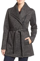 Steve Madden Women's Fleece Wrap Jacket Charcoal Heather