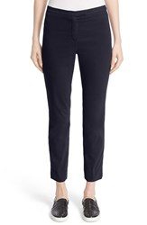 Eleventy Women's 'Uptown' Stretch Cotton Ankle Pants Navy