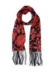 Rena Lange Oblong Scarves Red