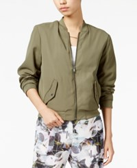 Bar Iii Bomber Jacket Only At Macy's Dusty Olive