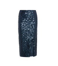 By Malene Birger Desidira Sequinned Skirt Blue