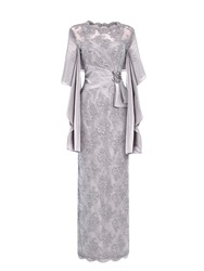 Anoushka G Martha Embellished Lace Maxi Dress Grey