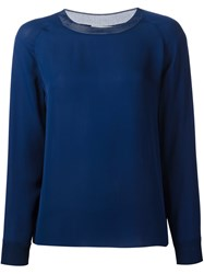 Vince Loose Blouse Blue