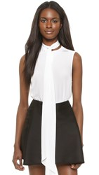 Dion Lee Neck Tie Sleeveless Shirt Ivory