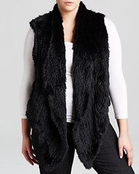 Mynt 1792 Plus Rabbit Fur Vest Black