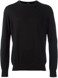 Fay Elbow Patches Pullover Black