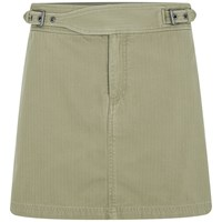 Marc By Marc Jacobs Women's Greenwich Army Cotton Mini Skirt Safari Brown