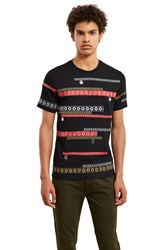 Kenzo Tanami Flower Embroidered T Shirt Black