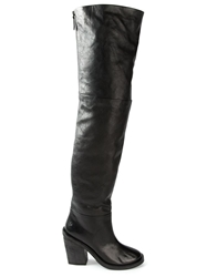 Marsell Thigh High Boots Black
