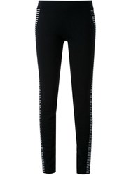 Gareth Pugh Striped Detail Leggings Black