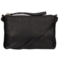 Pieces Pippi Small Across Body Leather Bag Black