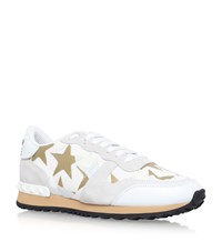 Valentino Star Studded Sneakers Female White
