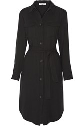Opening Ceremony Belted Twill Shirt Dress Black