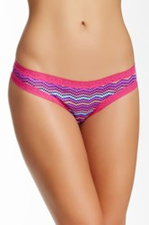 Kensie Lace Trim Thong Multi