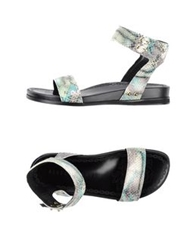 Rebeca Sanver Sandals Light Green