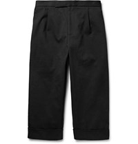 J.W.Anderson Wide Leg Cotton Blend Twill Trousers Black