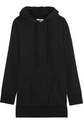 Maison Martin Margiela Mm6 Oversized Cotton Blend Hooded Sweatshirt Black