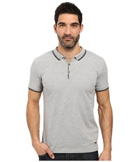 Boss Orange Pejo 1 Short Sleeved Polo Grey Men's Short Sleeve Pullover Gray