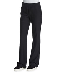 Petite Cotton Flare Leg Sweatpants Black Helmut Lang