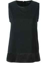 Joseph Silk Hem Tank Top Black