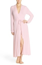 Women's Barefoot Dreams 'Luxe Milk' Long Jersey Robe
