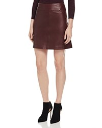 Whistles A Line Leather Skirt 100 Bloomingdale's Exclusive Burgundy