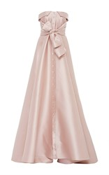 Alexis Mabille Bow Tie Bustier Dress Pink