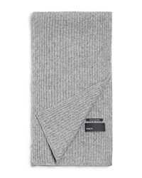 Vince Ribbed Marl Cashmere Scarf Steel Combo