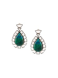 Nak Armstrong Drop Earrings Green