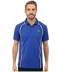 Lacoste Sport Ultra Dry Piqu Tennis Polo W Contrast Collar Royal Blue Navy Blue White Men's Clothing Black