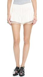 J.O.A. Ruffle Shorts White