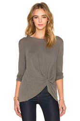 Stateside Twist Front Long Sleeve Top Olive