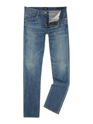 A Gold E Straight Cut Medium Wash Mid Rise Authentic Jeans Denim Mid Wash