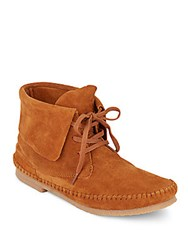 Lucky Brand Camella Leather Moccasin Booties Brown