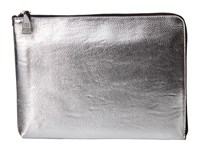 Ivanka Trump Rio Tech Sleeve Silver Clutch Handbags