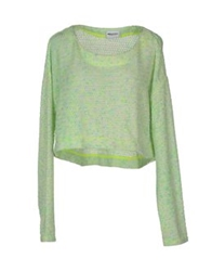 American Retro Long Sleeve Sweaters Light Green