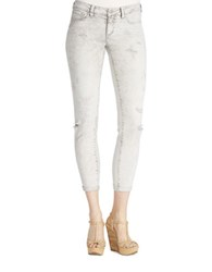 Jessica Simpson Forever Distressed Rolled Skinny Jeans Grey