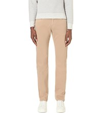 7 For All Mankind The Straight Regular Fit Straight Cotton Jeans Beige