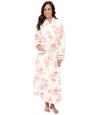 Carole Hochman Long Robe Brushstroke Floral Women's Robe Pewter