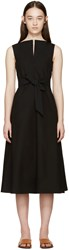 Christophe Lemaire Black Poplin Flared Dress