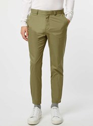 Topman Co Ord Collection Khaki Skinny Trousers With Ankle Detail Green