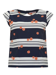 Trollied Dolly Back To The Feature Top Navy And White