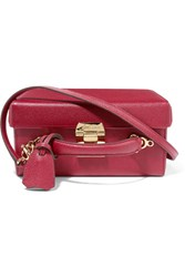 Mark Cross Grace Large Textured Leather Shoulder Bag Claret
