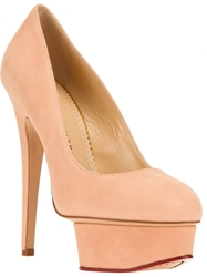 Charlotte Olympia 'Dolly' Platform Pump Nude And Neutrals