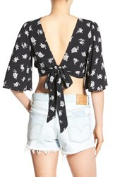 Chloe And Katie Women's Tie Back Crop Top