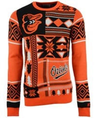 Forever Collectibles Men's Baltimore Orioles Patches Christmas Sweater Black Orange