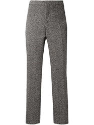 E. Tautz Herringbone Trousers Grey